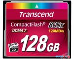 Карта памяти Transcend 800x CompactFlash Premium 128GB (TS128GCF800)