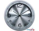 Настенные часы Бюрократ WallC-R05P (серебристый)
