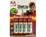 Батарейки Dialog AA 4 шт. [LR6-4B]