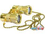 Бинокль Levenhuk Broadway 325F (золотой, с подсветкой и цепочкой) в рассрочку