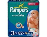 Подгузники Pampers Active Baby 3 Midi Jumbo Pack (82 шт)