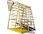 Детский спортивный комплекс Вертикаль Весёлый Малыш Wood с мягким бортиком