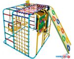 Детский спортивный комплекс Формула здоровья Кубик У Плюс голубой-радуга в интернет магазине