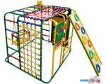 Детский спортивный комплекс Формула здоровья Кубик У Плюс зеленый-радуга