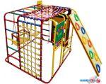 Детский спортивный комплекс Формула здоровья Кубик У Плюс красный-радуга
