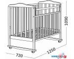 Классическая детская кроватка СКВ-Компани Митенька 160118 (венге)