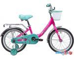 Детский велосипед Novatrack Ancona 16 (розовый/голубой, 2019)