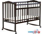 Классическая детская кроватка Bambini М.01.10.09 (темный орех)