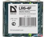 Батарейки Defender AA 4 шт LR6-4F