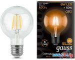 Светодиодная лампа Gauss E27 6Вт 2700К [105802106]