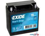 Мотоциклетный аккумулятор Exide EK151 (15 А·ч)