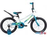 Детский велосипед Novatrack Valiant 18 (белый/голубой, 2019)