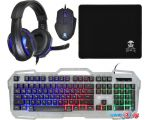 Клавиатура + мышь с ковриком + наушники Oklick HS-HKM300G Pirate