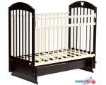 Классическая детская кроватка Bambini М 01.10.20 (темный орех/слоновая кость)
