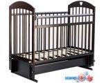 Классическая детская кроватка Bambini М 01.10.20 (темный орех)