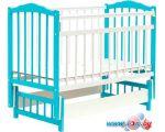 Классическая детская кроватка Bambini М.01.10.11 (белый/голубой)