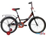 Детский велосипед Novatrack Urban 20 2020 203URBAN.BK20 (черный/красный)