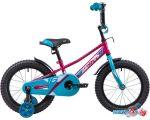 Детский велосипед Novatrack Valiant 16 (красный/голубой, 2019)