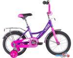 купить Детский велосипед Novatrack Vector 12 123VECTOR.LC20 (фиолетовый/розовый, 2020)