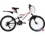 Детский велосипед Novatrack Dart 20 20SS6V.DART.WT20 (белый/черный, 2020)