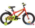 Детский велосипед Novatrack Tornado 16 (красный/желтый, 2019)