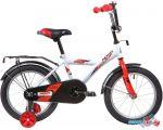Детский велосипед Novatrack Astra 16 2020 163ASTRA.WT20 (белый/красный) в рассрочку
