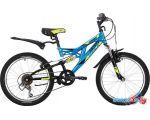 Детский велосипед Novatrack Shark 20 20SS6V.SHARK.BL20 (синий/черный, 2020)