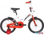 Детский велосипед Novatrack Strike 16 2020 163STRIKE.WTR20 (белый/красный)