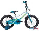 Детский велосипед Novatrack Valiant 16 (белый/голубой, 2019)