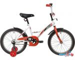 купить Детский велосипед Novatrack Strike 18 2020 183STRIKE.WTR20 (белый/красный)