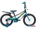Детский велосипед Novatrack Valiant 18 2019 183VALIANT.BK9 (черный/голубой)