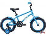 Детский велосипед Stark Foxy 14 boy (голубой/белый, 2020)