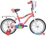 Детский велосипед Novatrack Candy 16 (оранжевый/белый, 2019)