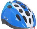 Cпортивный шлем STG HB5-3-C S (р. 48-52, синий/белый)