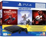 Игровая приставка Sony PlayStation 4 1TB Horizon Zero Dawn + Spider-Man + GTR цена