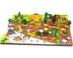 Мозаика/пазл Нескучные игры Овощи на грядке 3D 7907