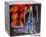 Набор бокалов для шампанского Bohemia Crystal Claudia 40149/180