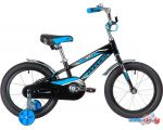 Детский велосипед Novatrack Dodger 16 2020 165ADODGER.BK20 (черный/голубой)