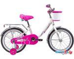 Детский велосипед Novatrack Ancona 16 (белый/розовый, 2019)