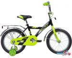 Детский велосипед Novatrack Astra 14 2020 143ASTRA.BK20 (черный/салатовый)