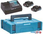 Аккумулятор с зарядным устройством Makita BL1021B + DC10SB (12В/2 Ah + 12В)