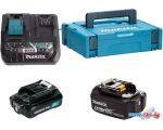 Аккумулятор с зарядным устройством Makita BL1021B + BL1850B + DC10SB (12В/2 Ah + 18В/5 Ah + 12В)
