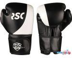 Перчатки для единоборств RSC Sport Power PU Flex SB-01-135 (12 oz, черный/белый) в интернет магазине