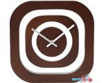 Настенные часы Platinet PZS (коричневый)