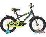 Детский велосипед Novatrack Tornado 16 (черный/желтый, 2019) в рассрочку
