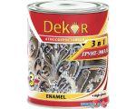 Эмаль Dekor грунт-эмаль 3 в 1 (вишневый, 1.9 кг)