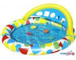 Надувной бассейн Bestway Игровой с обучающими фигурками 52378 (120х117х46)