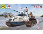 Сборная модель Моделист Советский танк Т-34-76 307201