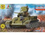 Сборная модель Моделист Советский танк Т-34-76 307224