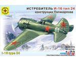 Сборная модель Моделист Истребитель И-16 тип 24 Поликарпова 207276